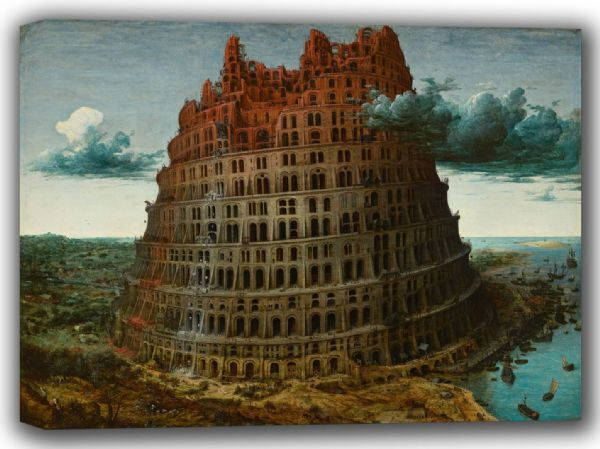 Bruegel the Elder, Pieter: The Tower of Babel. Fine Art Canvas. Sizes: A4/A3/A2/A1 (002009)